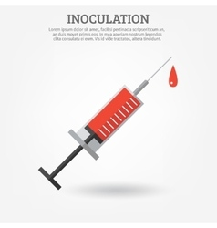 Vaccination Syringe Poster vector image vector image
