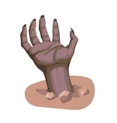 zombie hand stylized cartoon vector image vector image