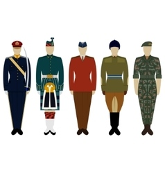 Uniforms of the british army since 2000 vector
