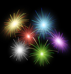Firework set vector