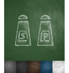 salt and pepper icon Hand drawn vector image