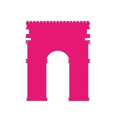 Arch of triumph landmark icon vector