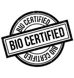 Bio certified rubber stamp vector