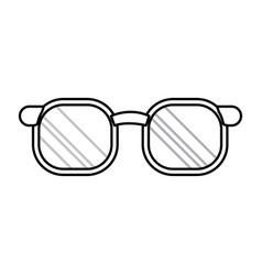 doctor glasses accessorie elegant line vector image