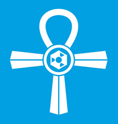 Egypt ankh symbol icon white vector