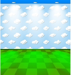 Eco room with clouds vector