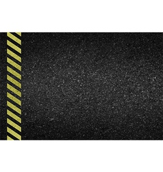 Danger arrows on asphalt texture vector