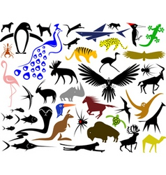 animal designs vector image