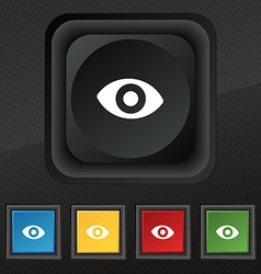 Sixth sense the eye icon symbol set of five vector
