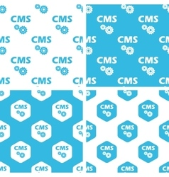 Cms settings patterns set vector