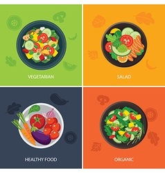Food web banner flat design vector