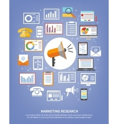 Marketing research icons vector