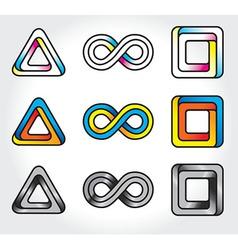 Infinite logos vector