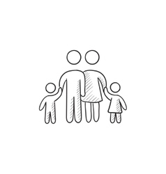 Family sketch icon vector