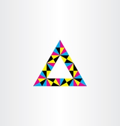 Geometric colorful triangle frame design vector