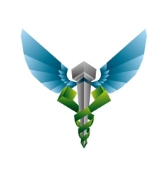 Caduceus icon medical and health care vector