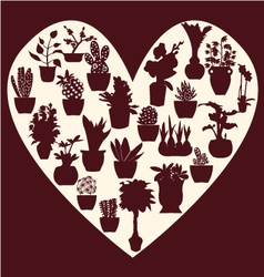 All pot plants potted plant silhouette vector