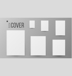Blank book cover set realistic vector