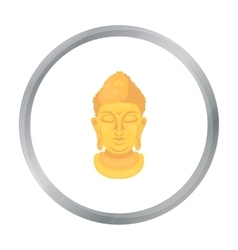 Buddha icon in cartoon style isolated on white vector