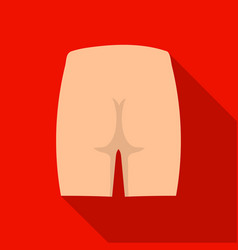 buttocks icon in flat style isolated on white vector image vector image