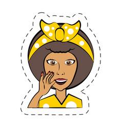 Cartoon woman expression image vector