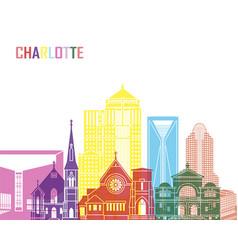 charlotte v2 skyline pop vector image vector image