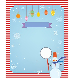 Christmas background for card or invitation with vector image