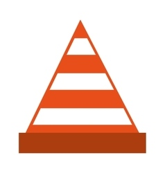 cone tool construction icon vector image