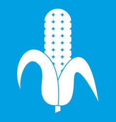 Corncob icon white vector