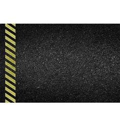 Danger arrows on asphalt texture vector image vector image
