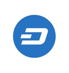 Dash coin symbol logo vector