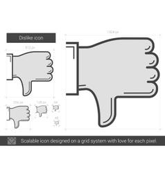 Dislike line icon vector