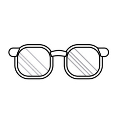 doctor glasses accessorie elegant line vector image