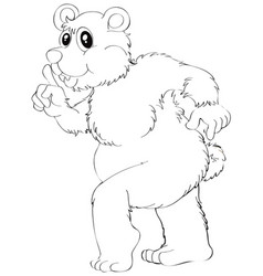 Doodle animal for grizzly bear vector