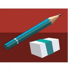 eraser and pencil vector image