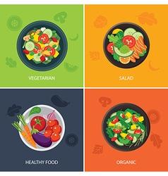 food web banner flat design vector image