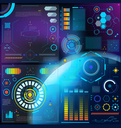 Interface hud dashboard futuristic vector