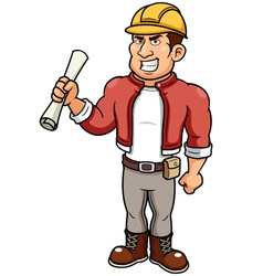 Man architect vector image