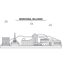 montana billings architecture line skyline vector image