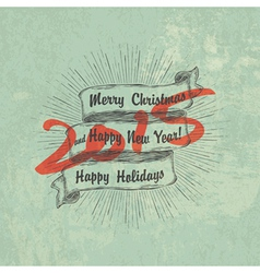 new year 2015 retro design vector image vector image