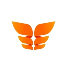 Orange butterfly logo template isolated creative vector image vector image