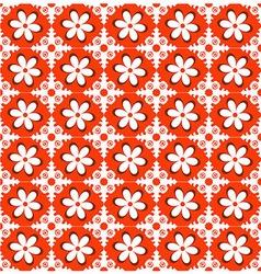 Orange Floral Pattern vector image