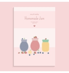 Poster with fruit jam vector