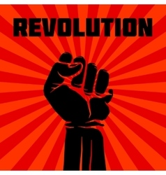 Protest rebel revolution art poster vector image vector image
