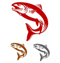 Salmon fish mascot vector