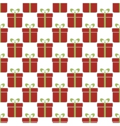 Seamless pattern with red gift boxes Christmas vector image vector image