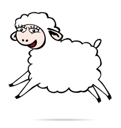 Sheep jump vector image