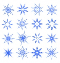 symbolic snowflakes vector image vector image