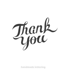 Thank you - hand lettering card vector