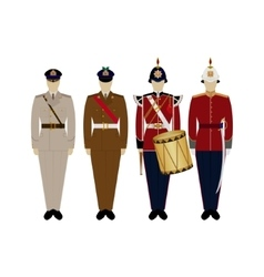 Uniforms of the british army since 2000-2 vector